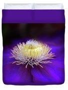 Clematis Aglow Duvet Cover