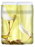 Clematis And Sunshine Duvet Cover