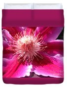 Clematis Bloom.. Duvet Cover
