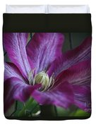 Clematis Close-up Duvet Cover