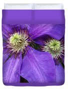Clematis Detail Duvet Cover