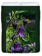 Clematis Flower Blossoms Duvet Cover