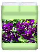 Clematis Flowers Duvet Cover by Corey Ford
