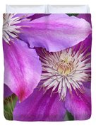 Clematis Flowers Duvet Cover