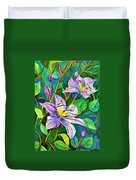 Clematis For Elsie Duvet Cover