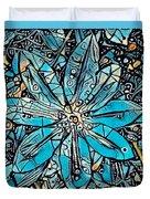 Clematis In Blue Fantasia Duvet Cover