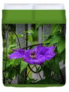 Clematis In Purple Duvet Cover