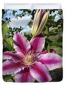 Clematis Petals Duvet Cover
