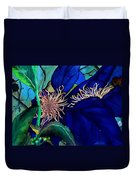 Clematis Regal In Purple And Blue Sold Duvet Cover