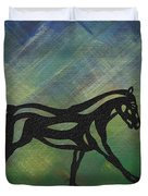 Clementine - Abstract Horse Duvet Cover by Manuel Sueess