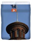 Clemson Flag At State House Duvet Cover