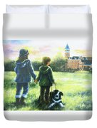 Clemson Kids Big Sister Little Brother Duvet Cover