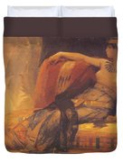 Cleopatra Preparatory Study For Cleopatra Testing Poisons On The Condemned Prisoners Duvet Cover