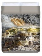 Cleopatra Terrace In Yellowstone National Park Duvet Cover
