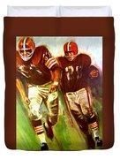 Cleveland Browns 1965 Cb Helmet Poster Duvet Cover