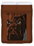 Cleveland Browns Wood Fence Duvet Cover
