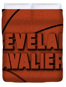 Cleveland Cavaliers Leather Art Duvet Cover