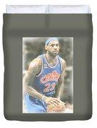 Cleveland Cavaliers Lebron James 1 Duvet Cover