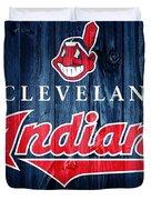 Cleveland Indians Barn Door Duvet Cover