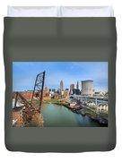 Cleveland Skyline #2 Duvet Cover