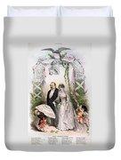 Clevelands Wedding, 1886 Duvet Cover