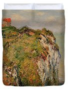 Cliff At Dieppe Duvet Cover