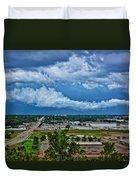 Cliff Avenue Storm Clouds Duvet Cover