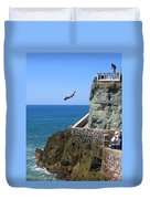 Cliff Divers Duvet Cover