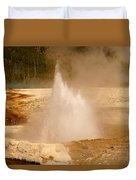 Cliff Geyser Duvet Cover