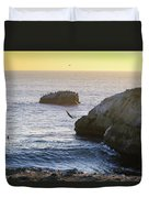 Cliff Jumping To Surf Duvet Cover