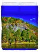 Cliff Of Color Duvet Cover