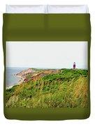 Cliff Off The Shores Of Martha Vineyard Duvet Cover