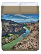 Cliff View Of Big Bend Texas National Park And Rio Grande  Duvet Cover