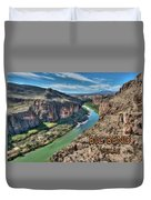 Cliff View Of Big Bend Texas National Park And Rio Grande Text Big Bend Texas Duvet Cover