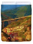 Cliff Village Duvet Cover
