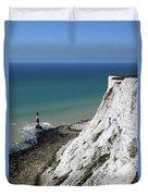 Cliffs At Beachy Head East Sussex Duvet Cover
