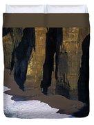 Cliffs At Blacklock Point Duvet Cover