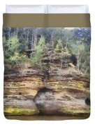 Cliffs At The Dells Duvet Cover