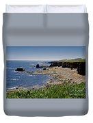 Cliffs Near Souter Lighthouse. Duvet Cover
