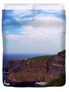 Cliffs Of Moher Aill Na Searrach Ireland Duvet Cover by Teresa Mucha