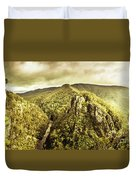 Cliffs, Steams And Valleys Duvet Cover