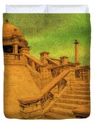 Clifton Monument At Jehangir Kothari Parade Duvet Cover