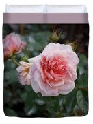Climber Romantica Tea Rose, Digital Art Duvet Cover