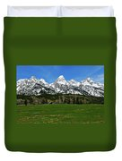 Climbers Ranch In Spring Duvet Cover
