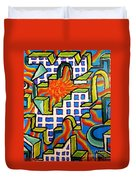 Climbing Abstractly  Duvet Cover