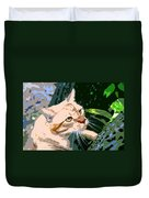 Climbing Cat Duvet Cover