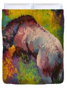 Climbing The Bank - Grizzly Bear Duvet Cover