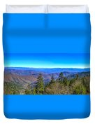 Clingmans Dome Panorama Duvet Cover