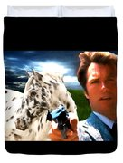 Clint Eastwood As Dirty Harry Duvet Cover