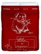 Clock For Keeping Animal Time Patent Drawing 1b Duvet Cover